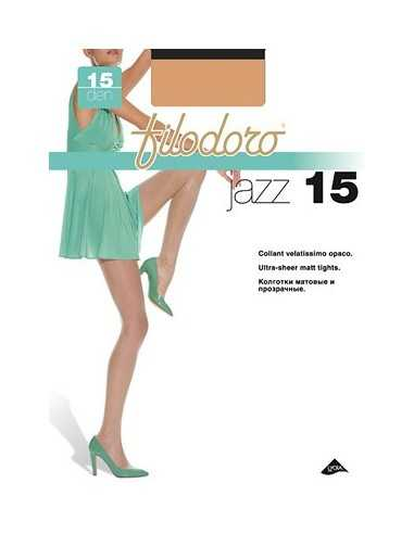 Filodoro-JAZZ 15-Collant velatissimo opaco. Corpino rinforzato, tassello igienico, punte rinforzate.