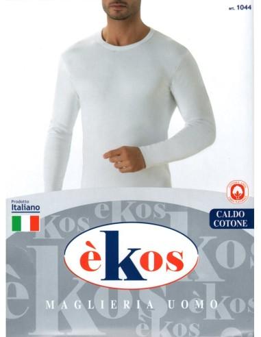 èKos-ART. 1044-Maglia uomo, cotone caldo, girocollo, mezza lunga.