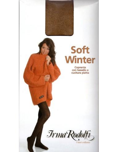 Irma Rodolfi-SOFT WINTER COLLANT-Collant coprente con tassello e cucitura piatta.