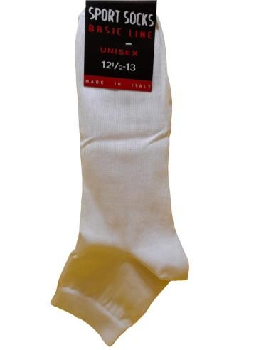 Calzificio Ellegi - San Giacomo-SPORT SOCKS - BASIC LINE - CICLISTA-Calzino sportivo, modello ciclista (sopra la caviglia), adatto per attività in palestra ed all'aperto. 100% cotone, prodotto italiano.